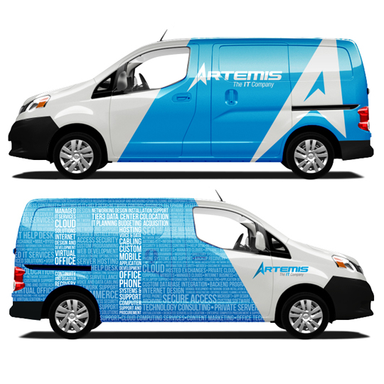 Artemis Vehicle Wrap
