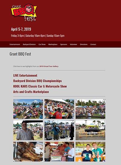 Grant BBQ Fest website